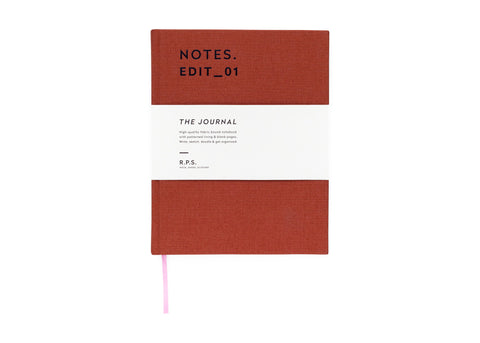 Darling Clementine RPS Collection -  Journal Notebook - Rust Red