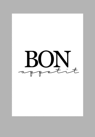 Mina Prints Wall Art - Bon Appetit