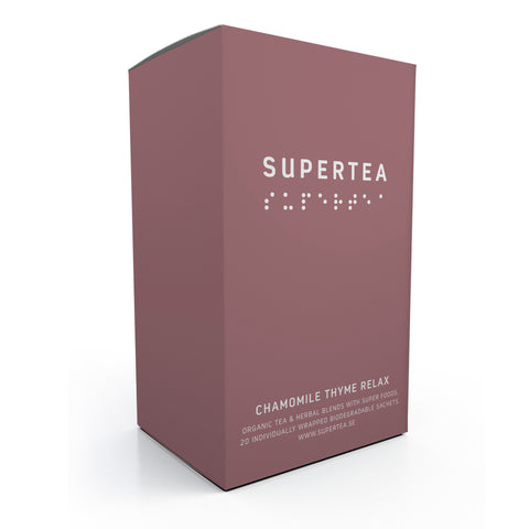 Supertea Chamomile Thyme Relax Organic