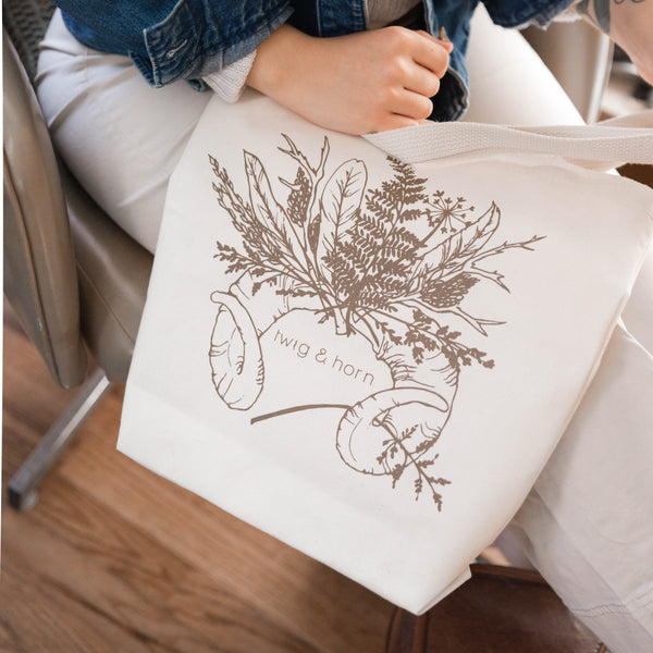 Twig & Horn Illustrated Tote