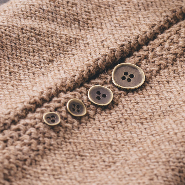 Brass Woodgrain Buttons