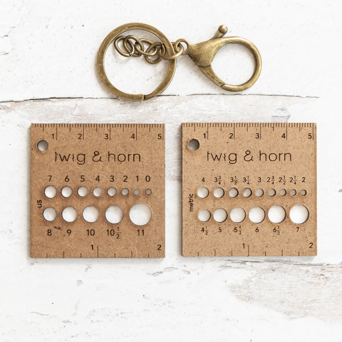 Gauge Ruler Keychain