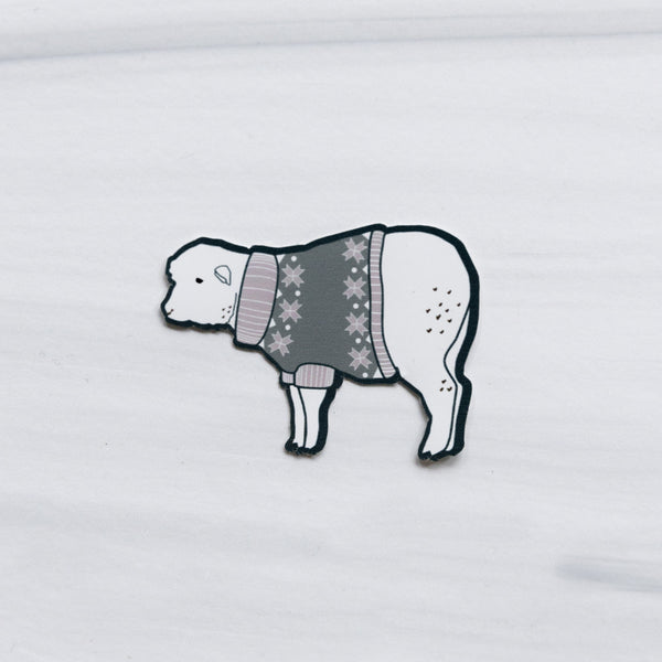 Sweater Sheep Sticker
