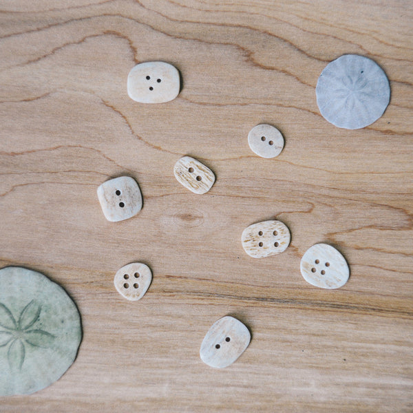 Bison Bone Buttons