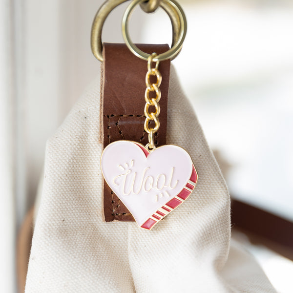 Wool Heart Keychain