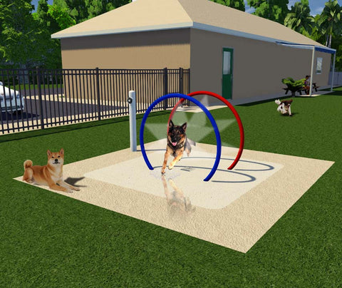 K9 Mist Hoop Tunnel | Dog Park Equipment