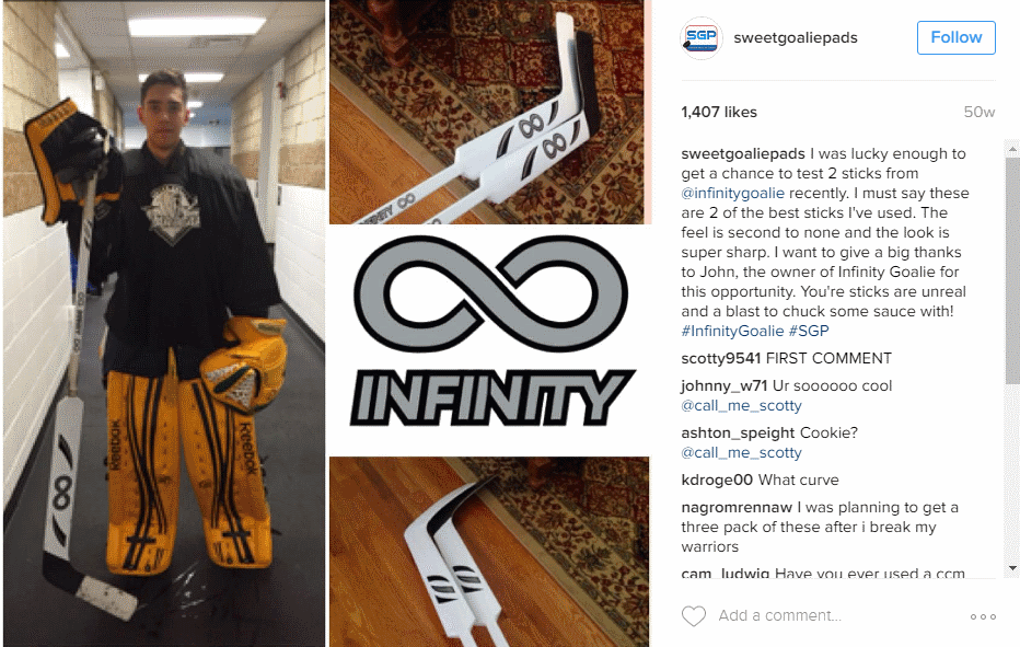 Infinity Goalie Sticks Review by Sweet Goalie Pads
