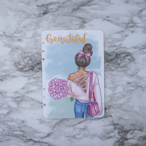 Spring Planner Girl Dashboard with Gold Foil