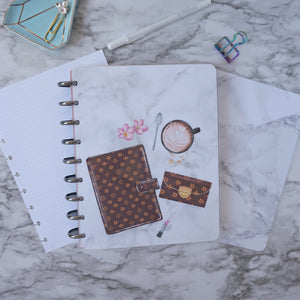 Coffee Lover Planner Cover for Discbound Planners
