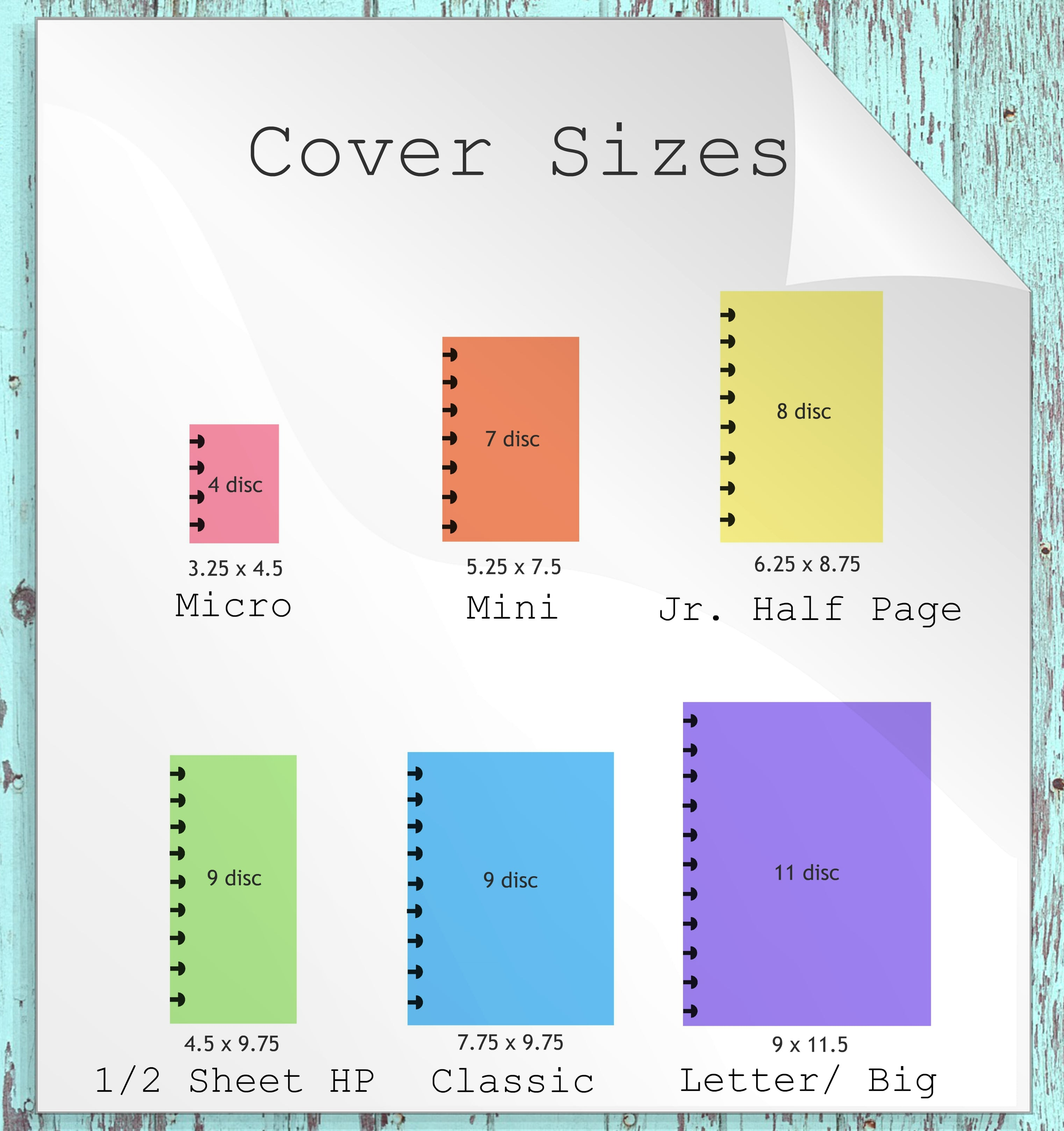 Planner Cover Classic Half Sheet for Travel and Fashion Girls