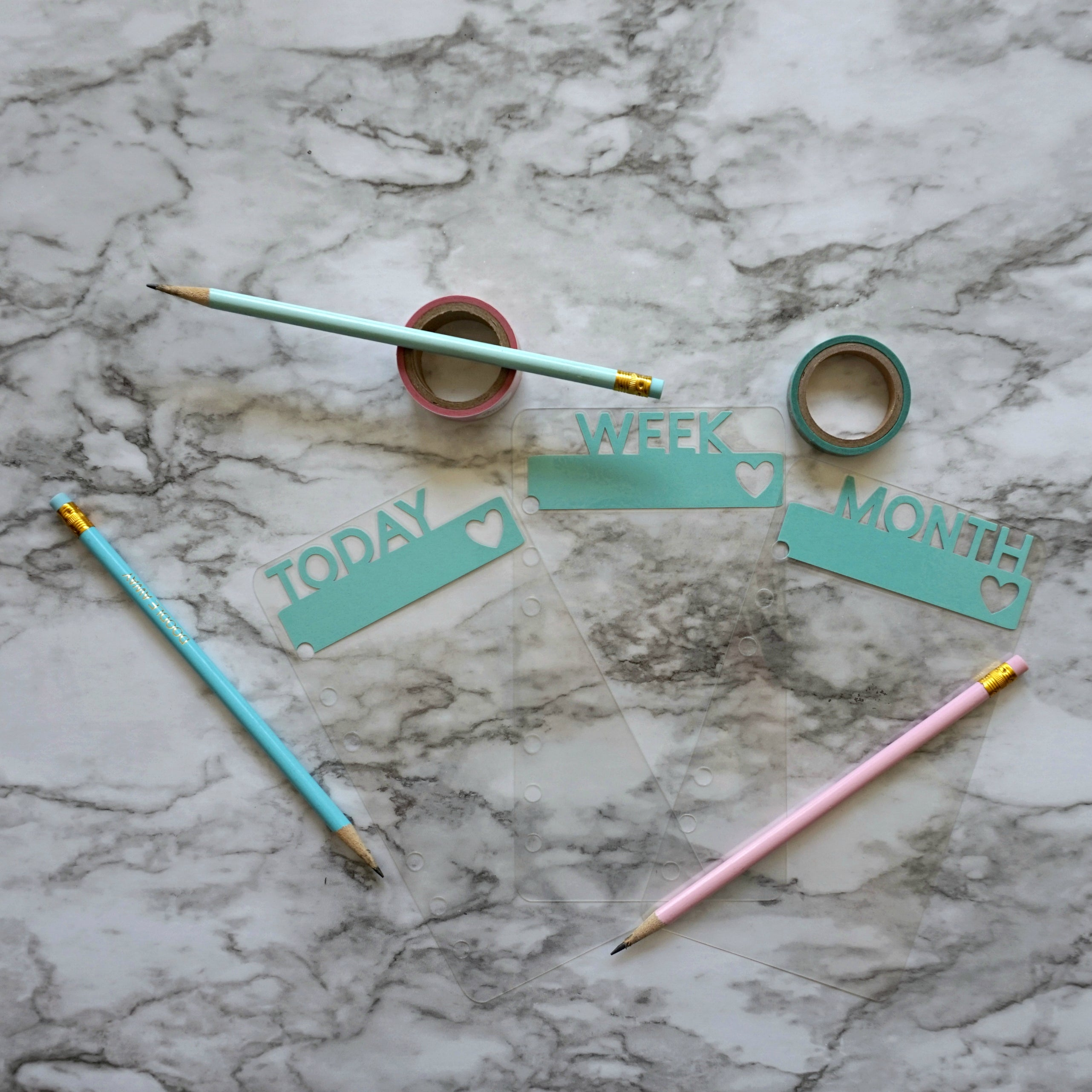 Robin Egg Blue Clear Page Markers