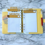 Clear Planner Dividers Personal Size and A5