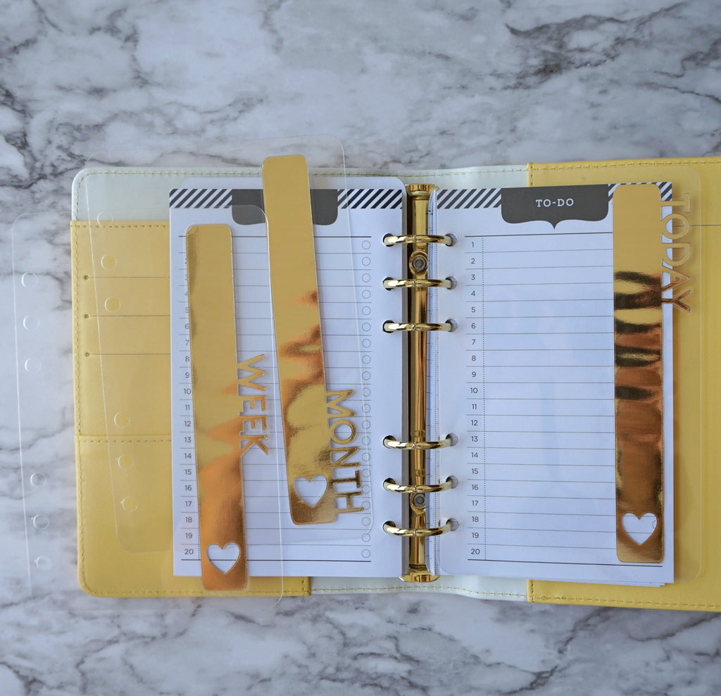 Side Tabs for Planner In Gold