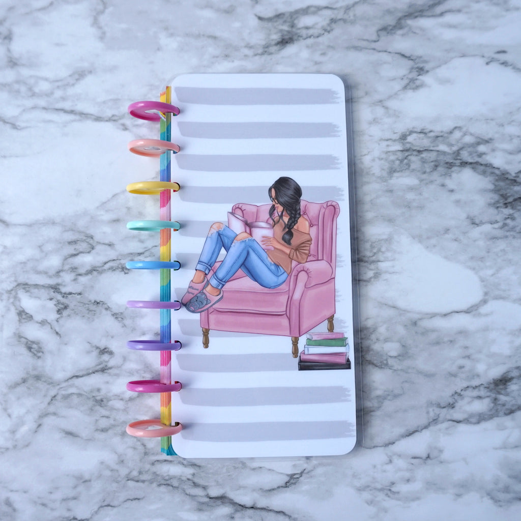 Half Sheet Discbound Planner Cover for Bookworms