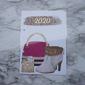 2020 Planner Dashboard, A5 and Pocket Size, Discbound Dashboard Classic Size Leopard Print Gold Foil