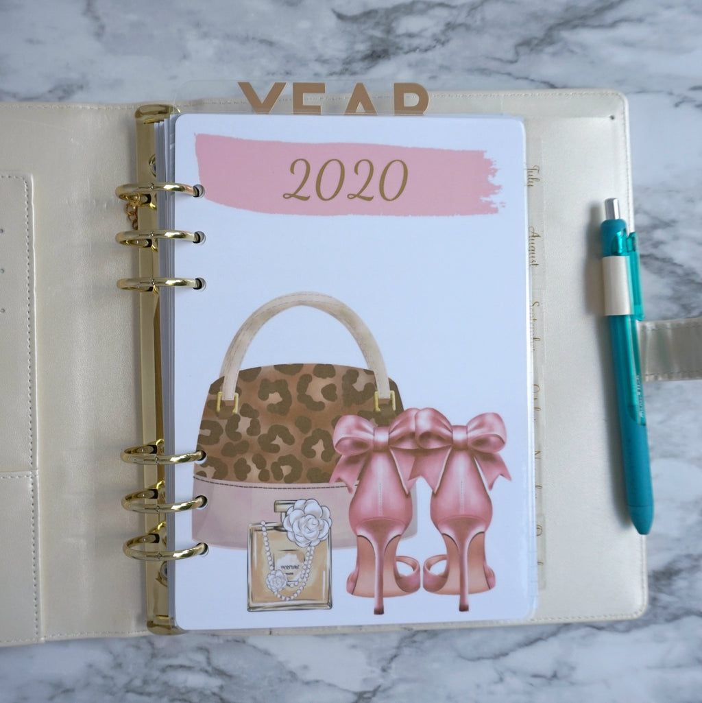 Planner Agenda Dashboard for 2020 A5, Personal, Pocket, and Discbound