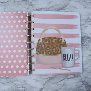 Pink Planner Cover Discbound Planner
