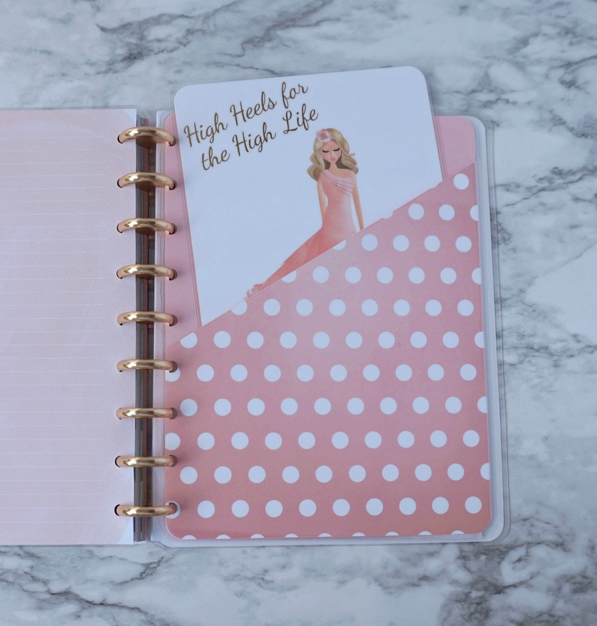 Planner Dashboard for A5, Personal, Pocket and Discbound Planners in Pink and Peach