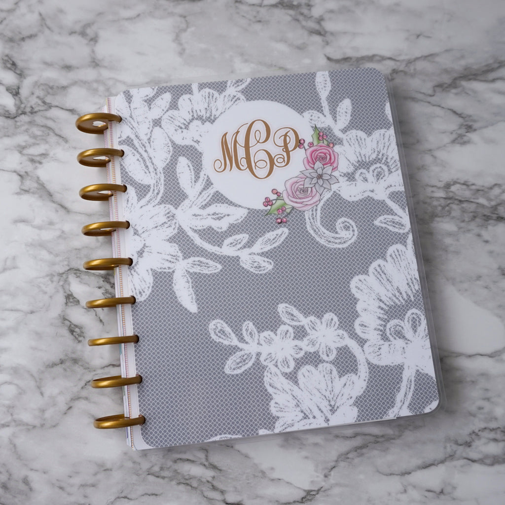 Monogram Discbound Planner Cover Fits Classic Happy Planner