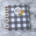 Buffalo Plaid Planner Cover Fits Happy Planner Discbound System