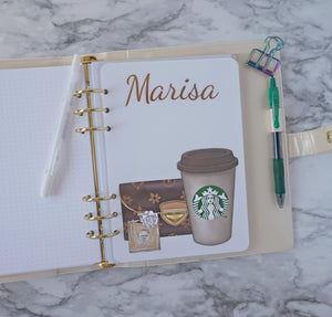 Coffee Planner Dashboard Personalized with Name