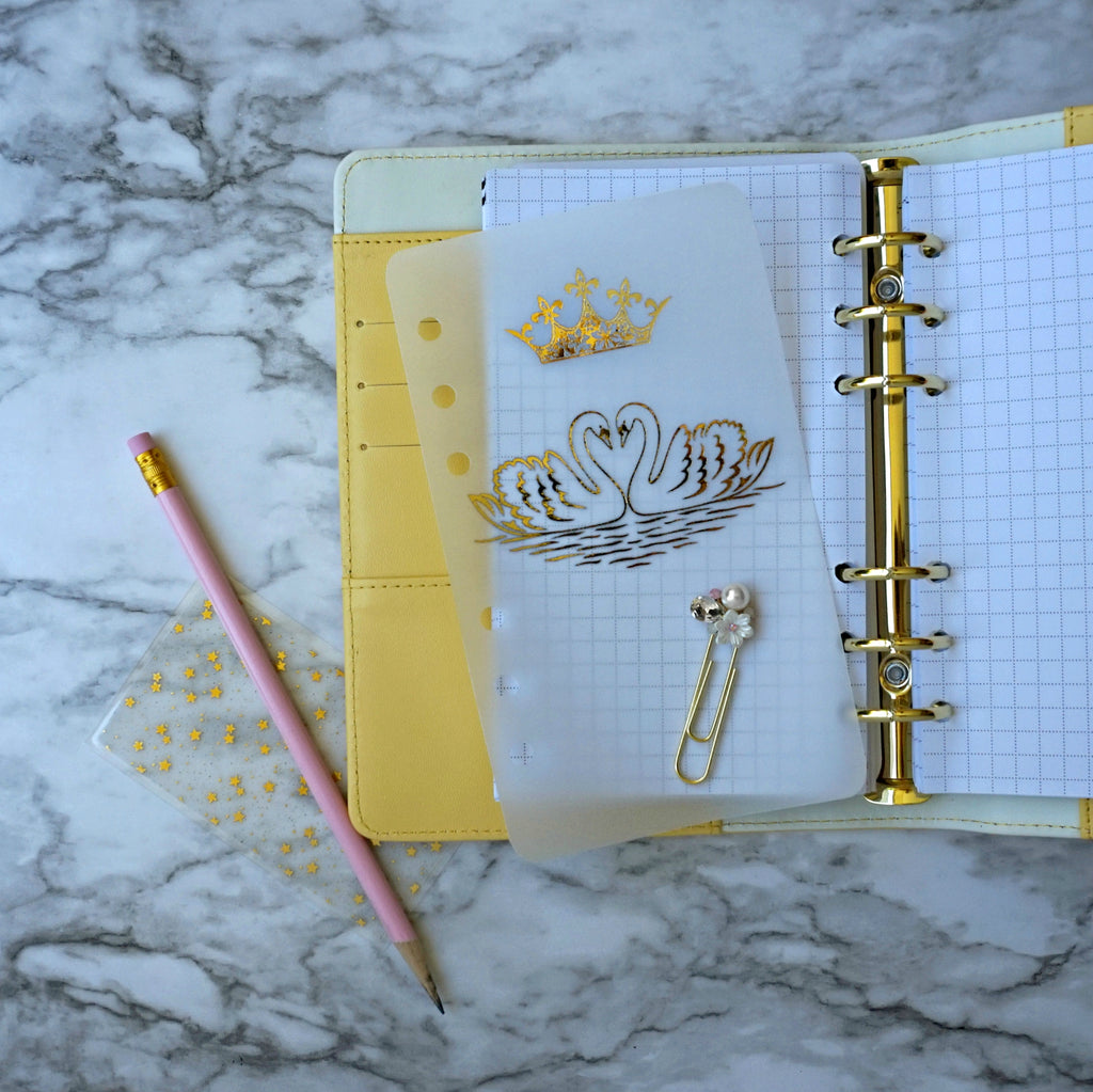 Planner Vellum with Gold Foil Swan