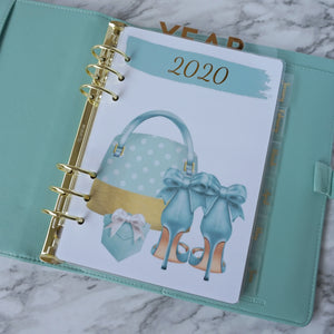 Planner Agenda Dashboard in Robbin Egg Blue for 2020 A5, Personal, Pocket, and Discbound