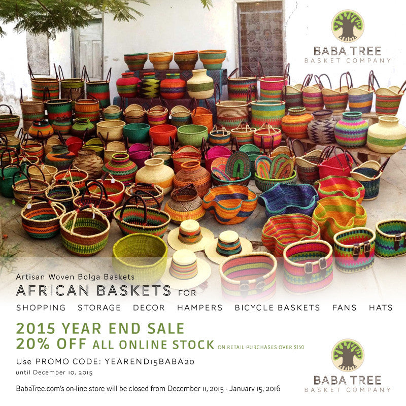 Pre Christmas Sale - African Baskets