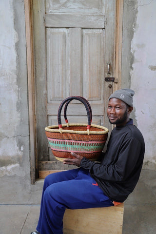 Oval Basket (Large) by Atanga Adongo
