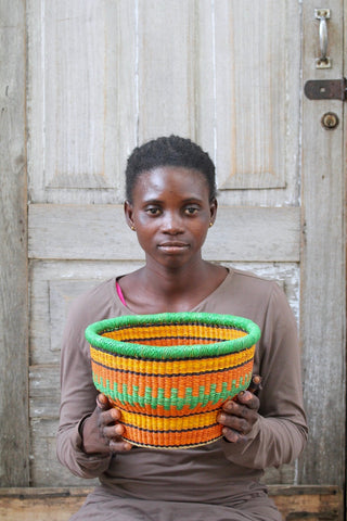 Tiny Drum Basket by Modesta Adongo