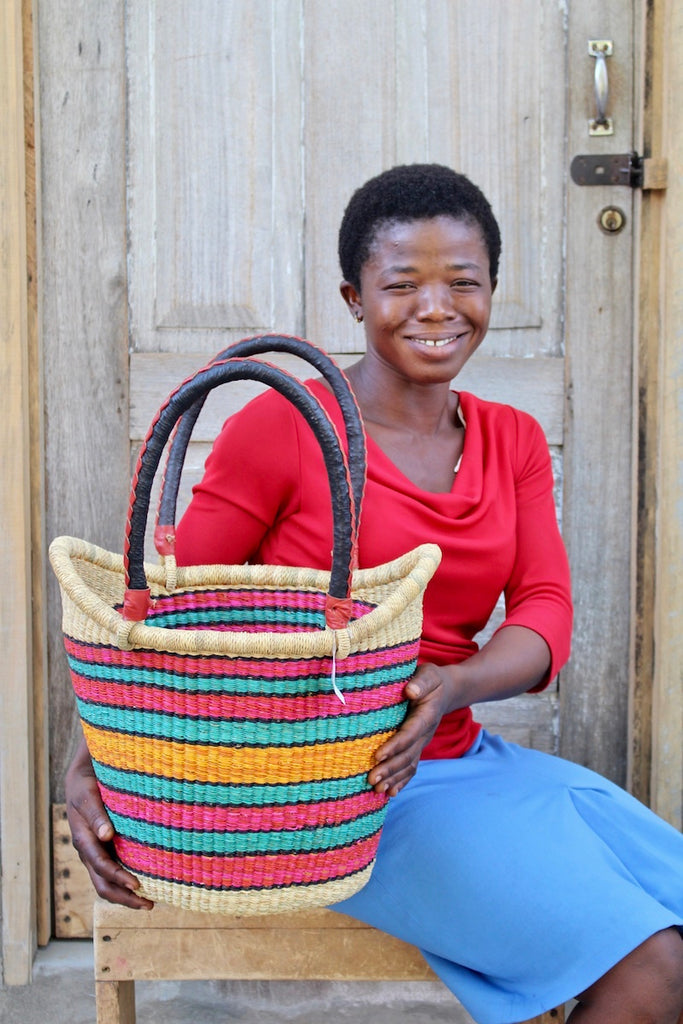 Nyariga Basket (Small) by Jennifer Akolgo