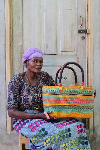 Tapoh Basket by Mary Ayindoe
