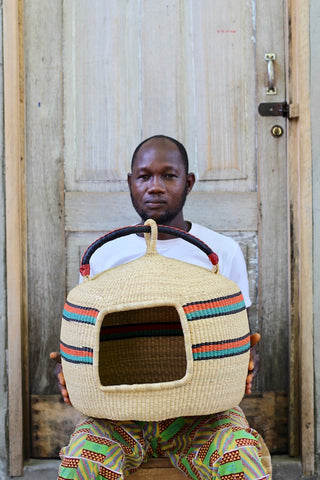 CAT BED (DOUBLE WEAVE) by Atanga Adongo