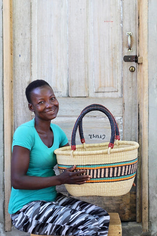 Oval Basket (Medium) by Charity Atuah