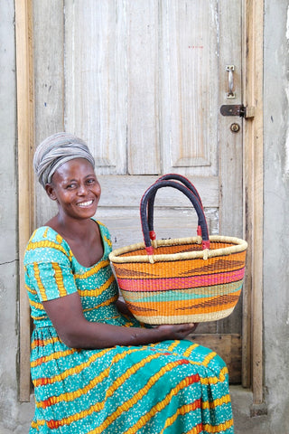 Oval Basket (Very Small) by Nyaamah Atingabono