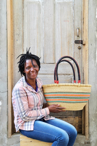 "Oval Basket (Large) by Jemimah ""10cows"" Akolgo"
