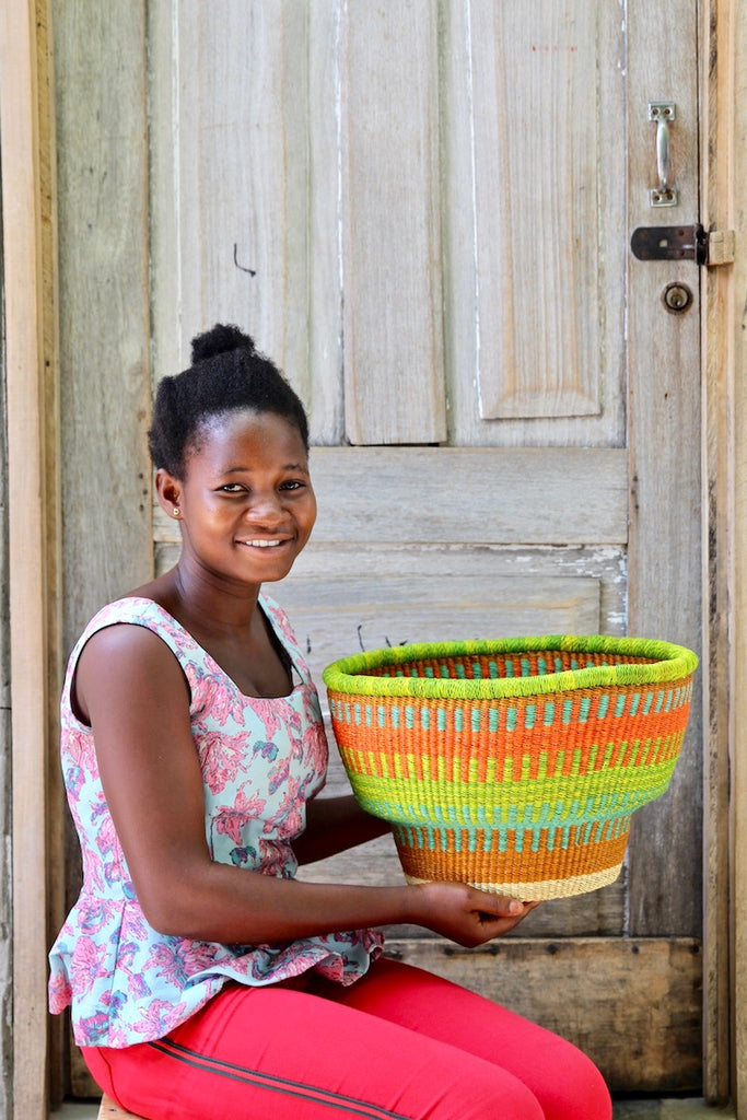 Drum Basket by Nmah Ayine
