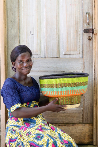 Drum Basket by Alahere Akabare