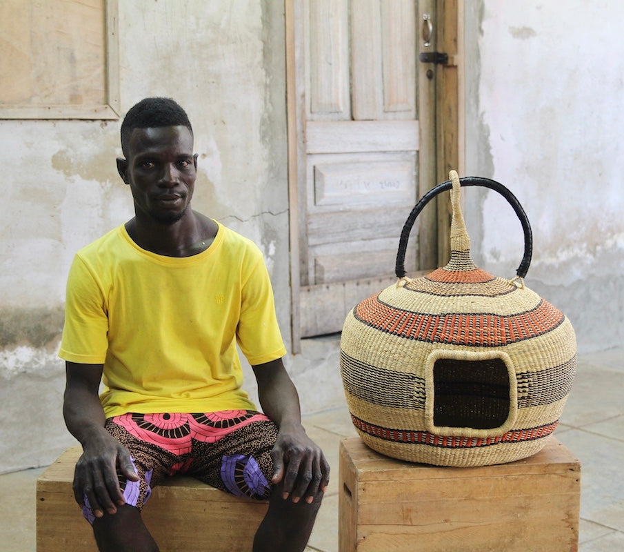 CAT BED (DOUBLE WEAVE) by Nsoh Aba-enge