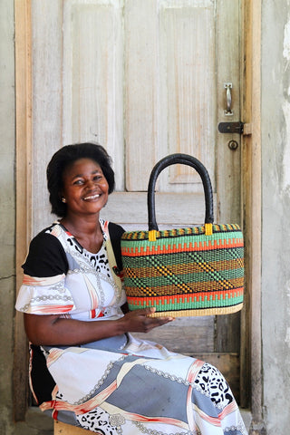 Tapoh Basket by Selina Apasinore sitting for Christiana Anaba