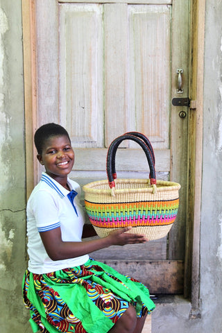 Oval Basket (Small) by Martha Adongo