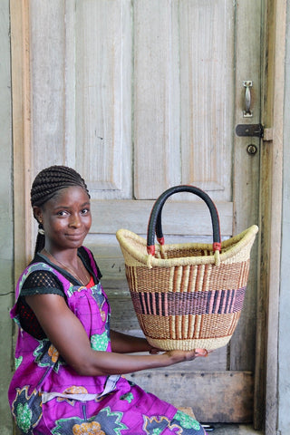 Nyariga Basket (Medium) by Joyce Adagaam