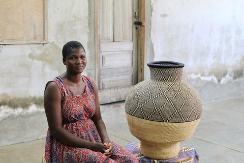 Art Basket -Toh-Baiyee Exclusive to the Baba Tree by Mary Ayinbora