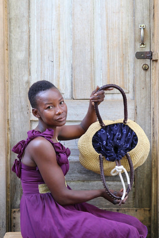 Stay Flow Elegant Woven Handbag (Small with Lining) by Charity Atuah
