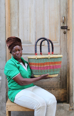 Oval Basket (Small) by Nmegiabono Atanga