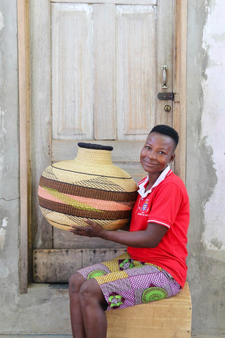 Jemima 10 Cows Basket by Charity Atuah