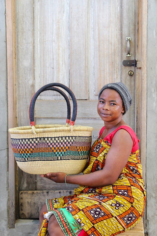Oval Basket (Medium) by Grace Abisika