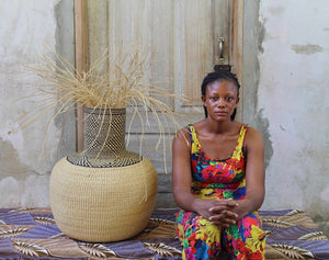 Art Basket (Tisanie Tia) Exclusive to the Baba Tree by Mary Nsohbillah
