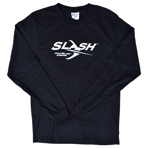 Slash Black Long Sleeved T-Shirt