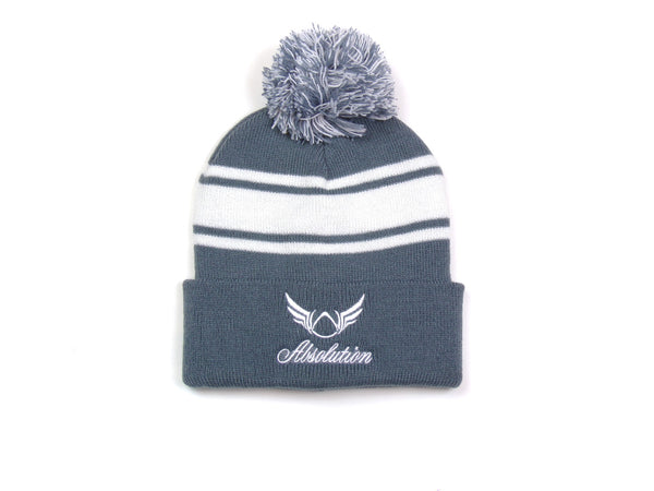 Grey Pom-pom Beanie Absolution Apparel